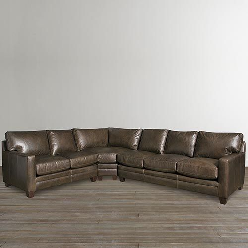 American Casual Ladson Large L Shaped Sectional Leather Sectional