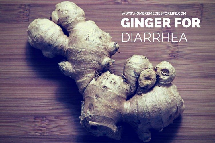 ginger for diarrhea