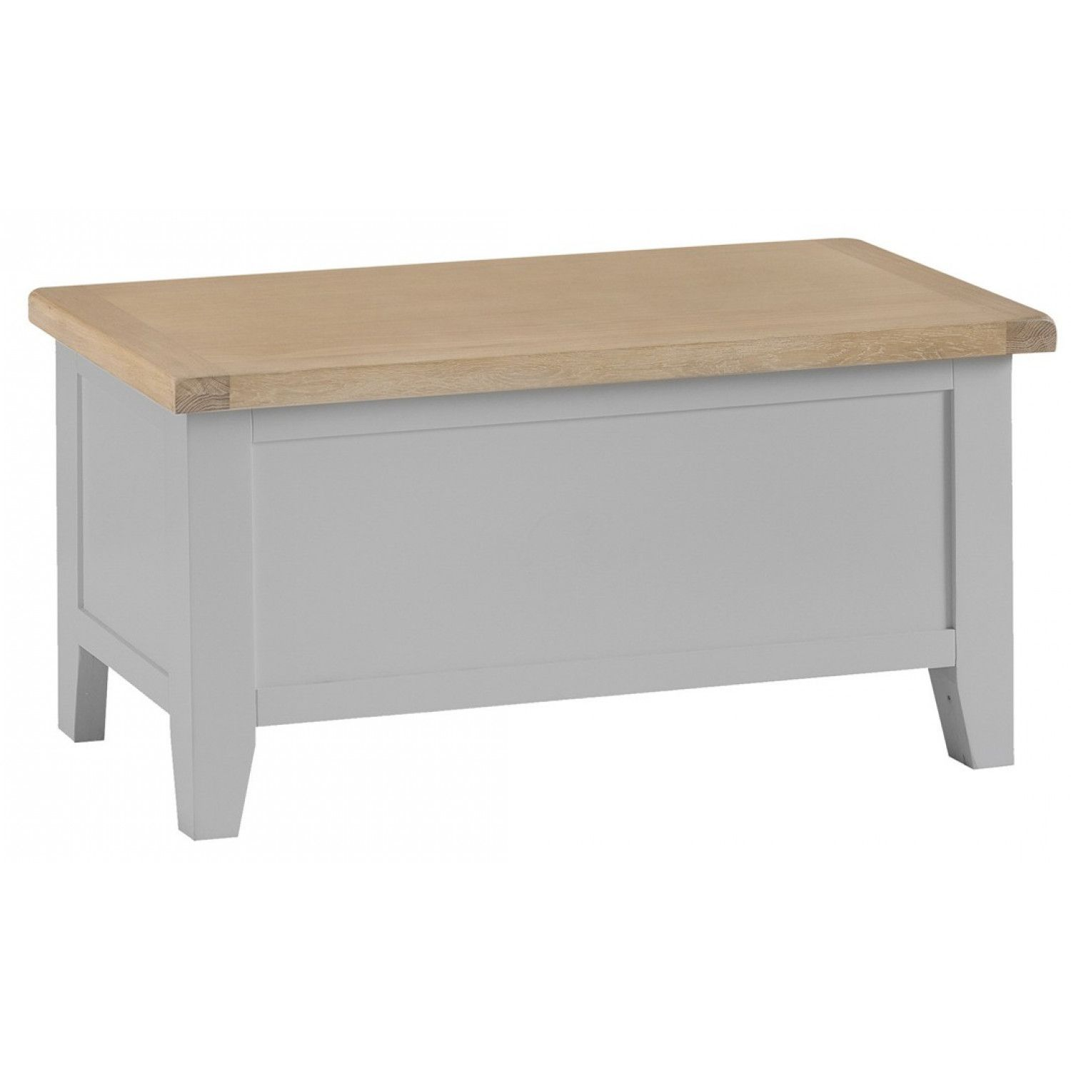 This Bonsoni Millstone Grey Blanket Storage Box Has Painted Finish With Lime Washed Oak Tops And Hinged Grey Painted Furniture Blanket Box Painted Blanket Box