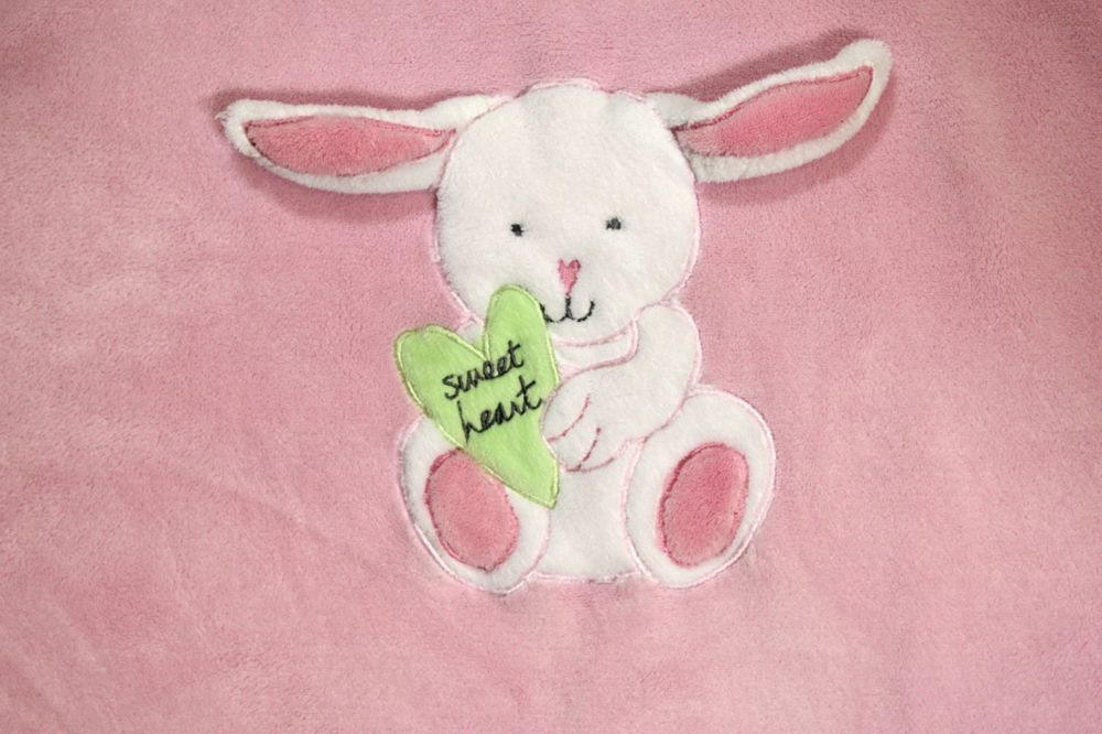 Messages from the Heart Pink Bunny Rabbit Sweetheart Lovey Security Baby Blanket #Unknown