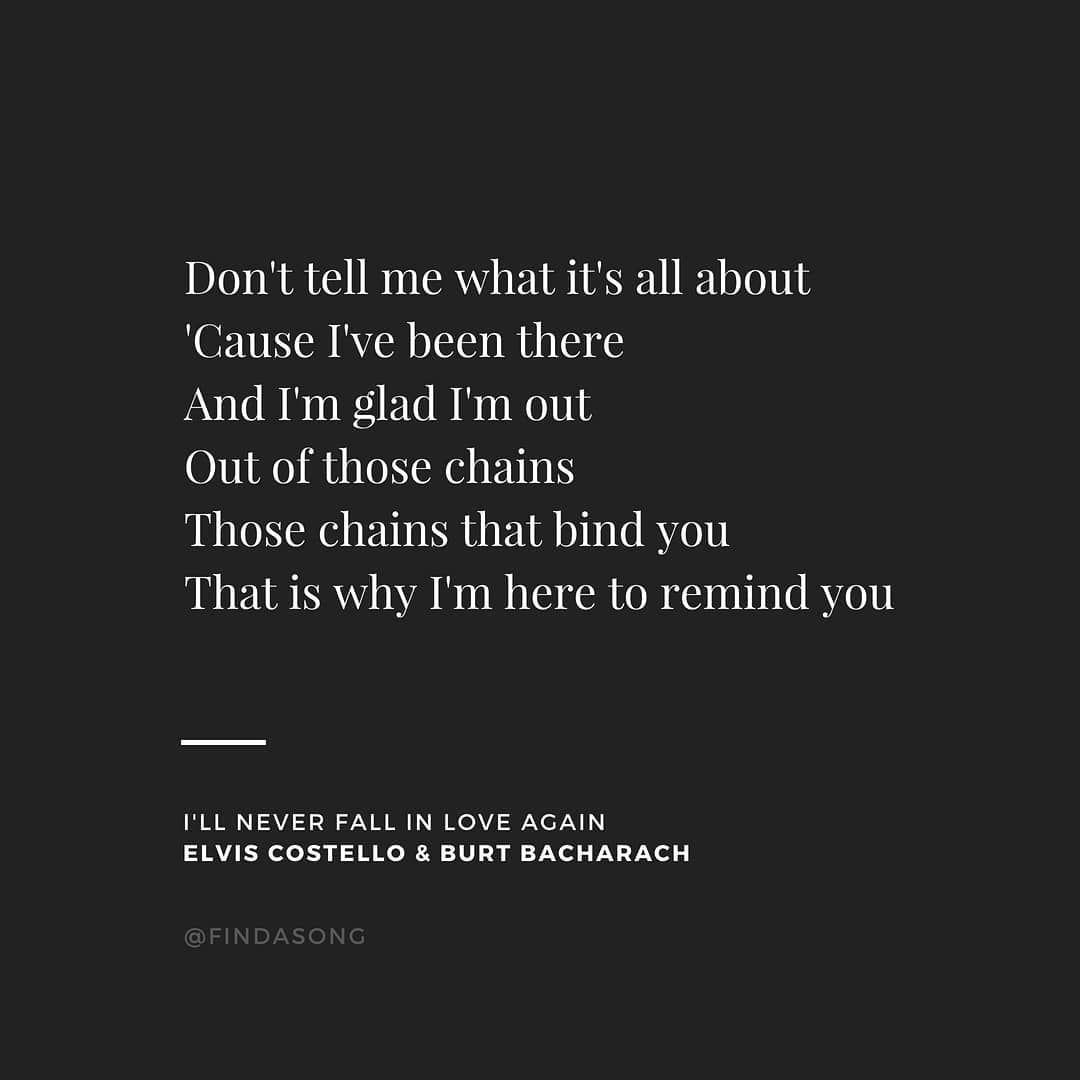 Ill Never Fall In Love Again Elvis Costello Burt Bacharach