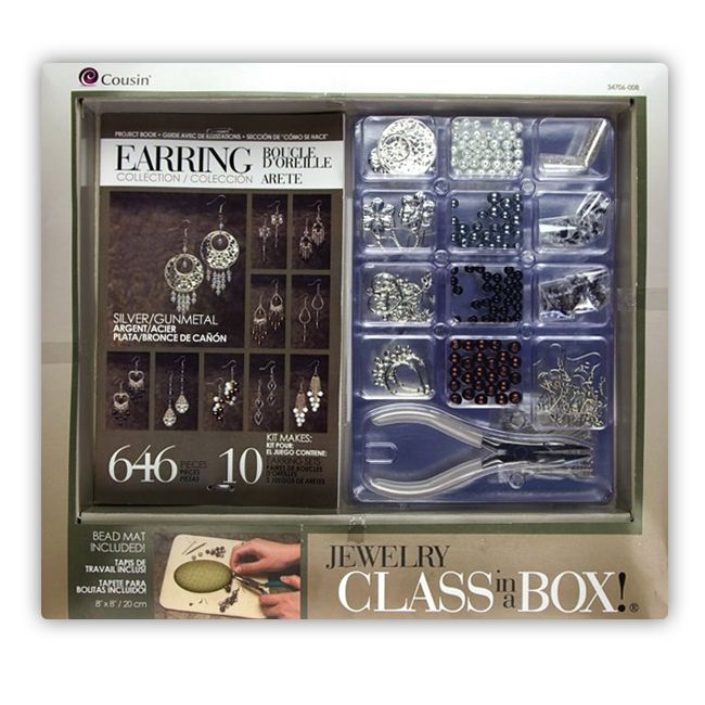 Cousin - Earring Collection - Jewelry - Class in a Box - Silver and Gunmetal at Scrapbook.com