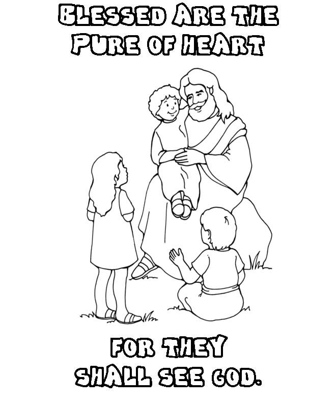 coloring pages beatitudes - photo#5