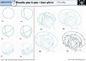 Dessiner luffy de one piece autonomie cycle3 pinterest - Comment dessiner luffy ...