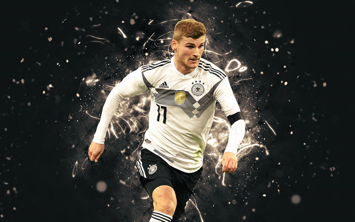 Download Wallpapers 4k Timo Werner Abstract Art Germany National Team Fan Art Werner Soccer Footballers Neon Lights German Football Team Besthqwallpape Germany Football Team Football Team Football