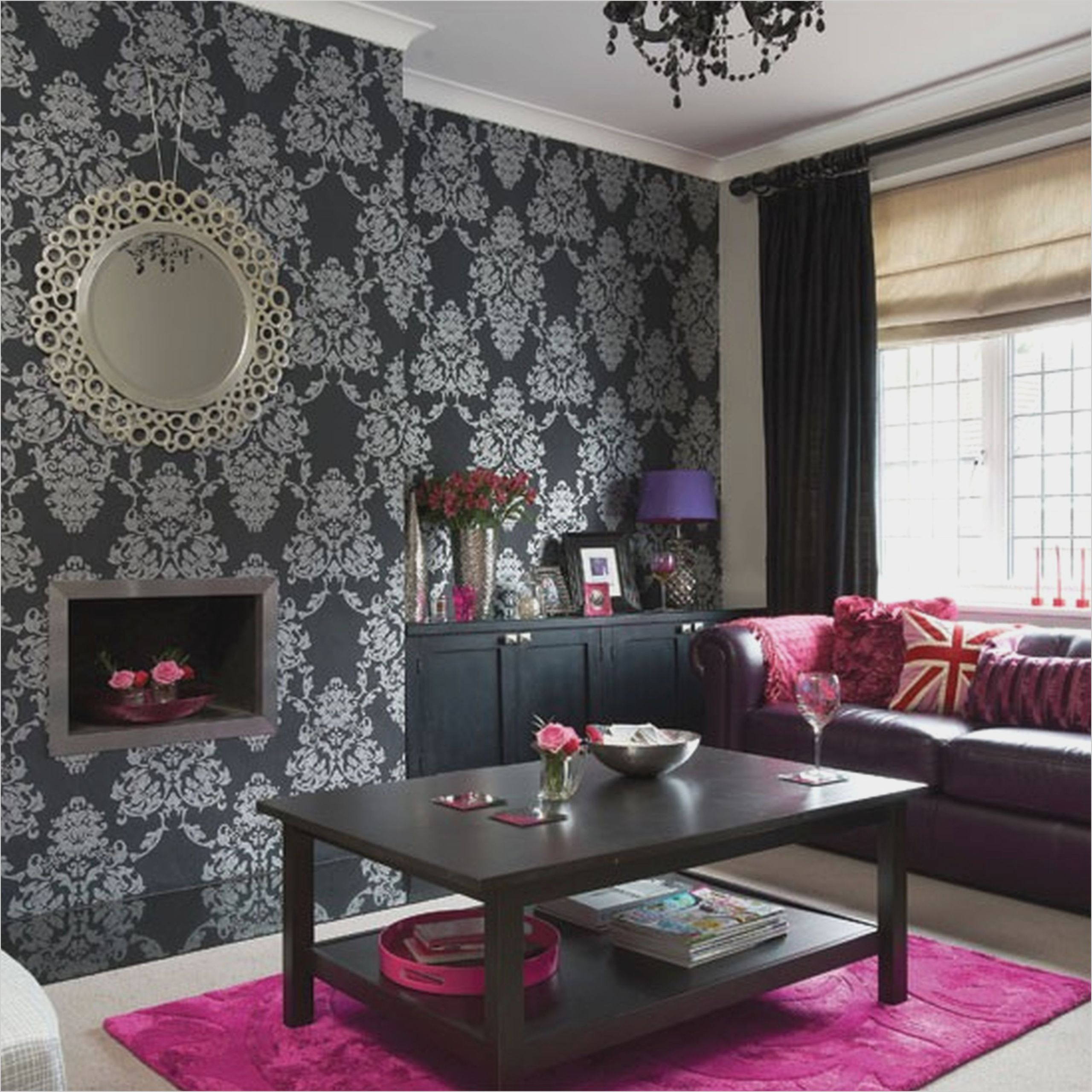 Black And White Damask Living Room Ideas Silver Living Room Silver Living Room Decor Purple Living Room