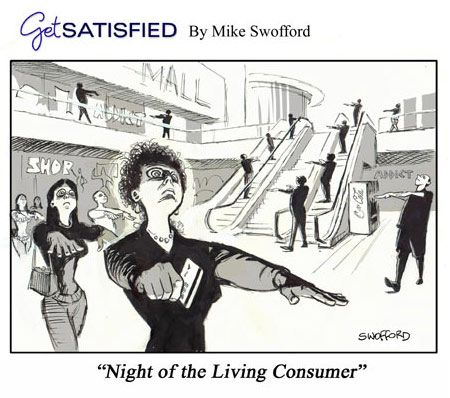 Zombies? Or consumer zombies? #zombies #cartoons ...