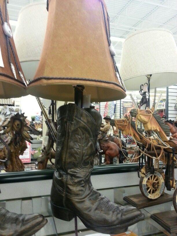 Cowboy Boot Lamp Western Bathroom Decor Western Lamps Lamp