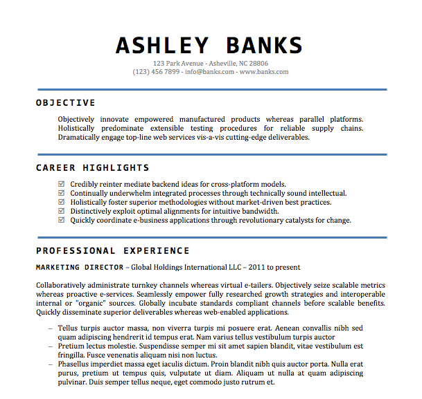 Free Resume Download Accomplished  Microsoft Word Format