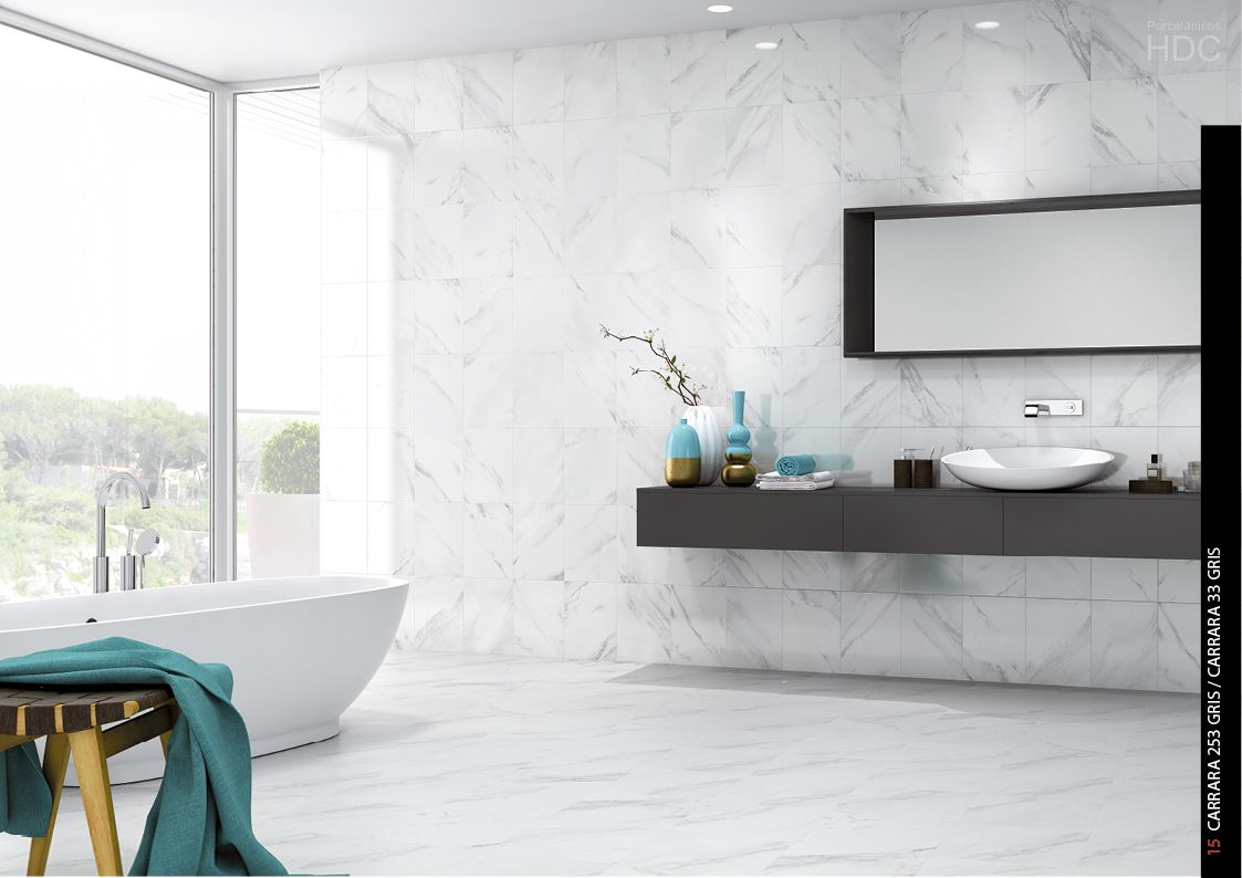 Hdc carrara gris wall floor tile found at bullnose tile in san jose ca