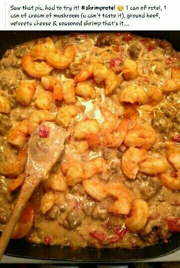 Shrimp Rotel Queso Rotel Recipes Food Dishes Food Recipies