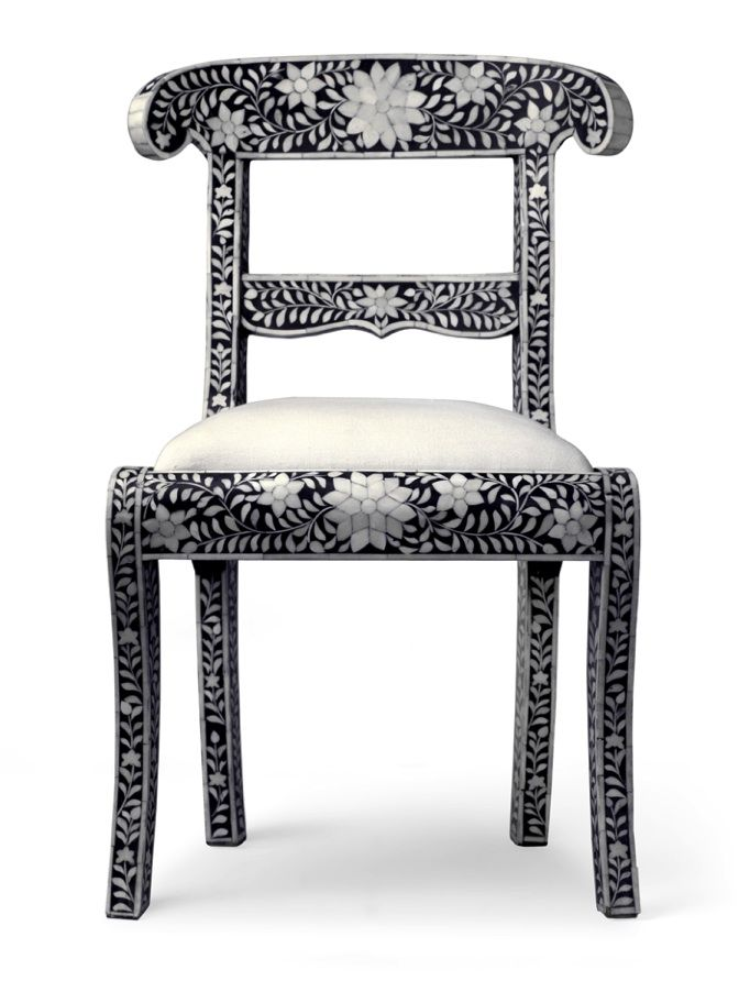Made Goods Ines Chair In Black   Mediterranean   Chairs   Candelabra