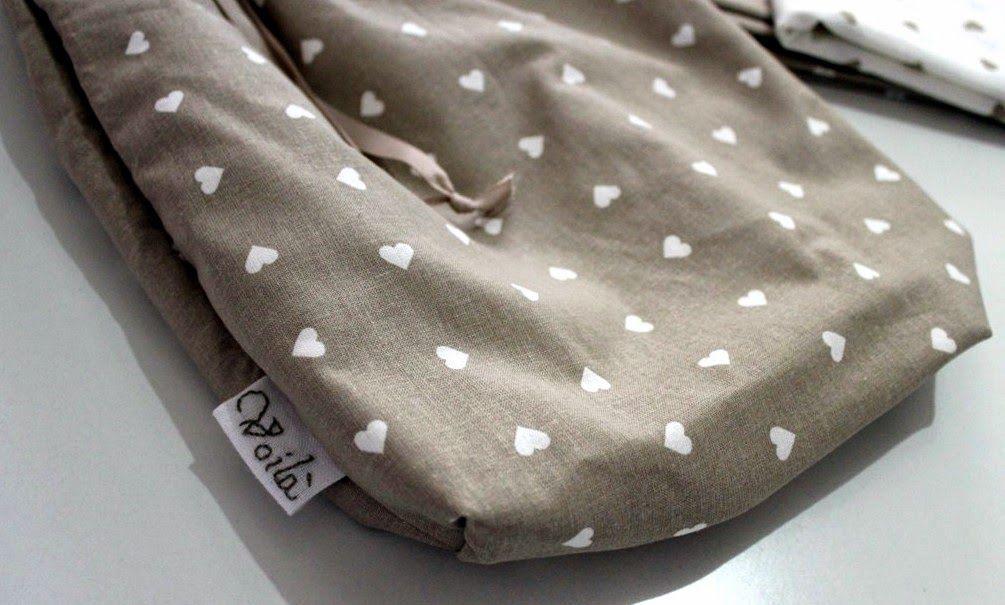 Sacco porta mollette in cotone 100% con appendino in metallo, Clothes Pin Bag, Sac à pince a linge
