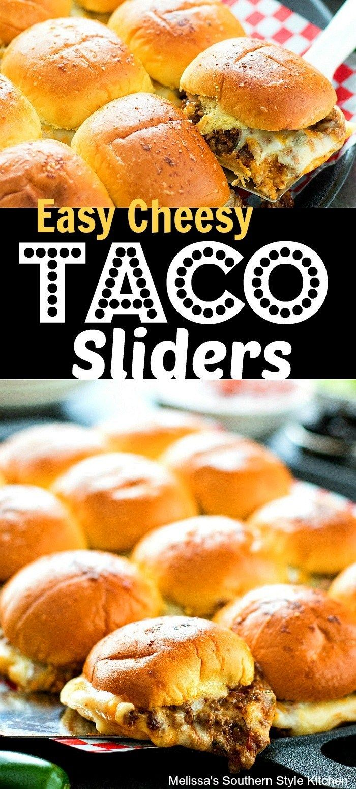 Photo of Easy Cheesy Taco Sliders – melissassouthernstylekitchen.com