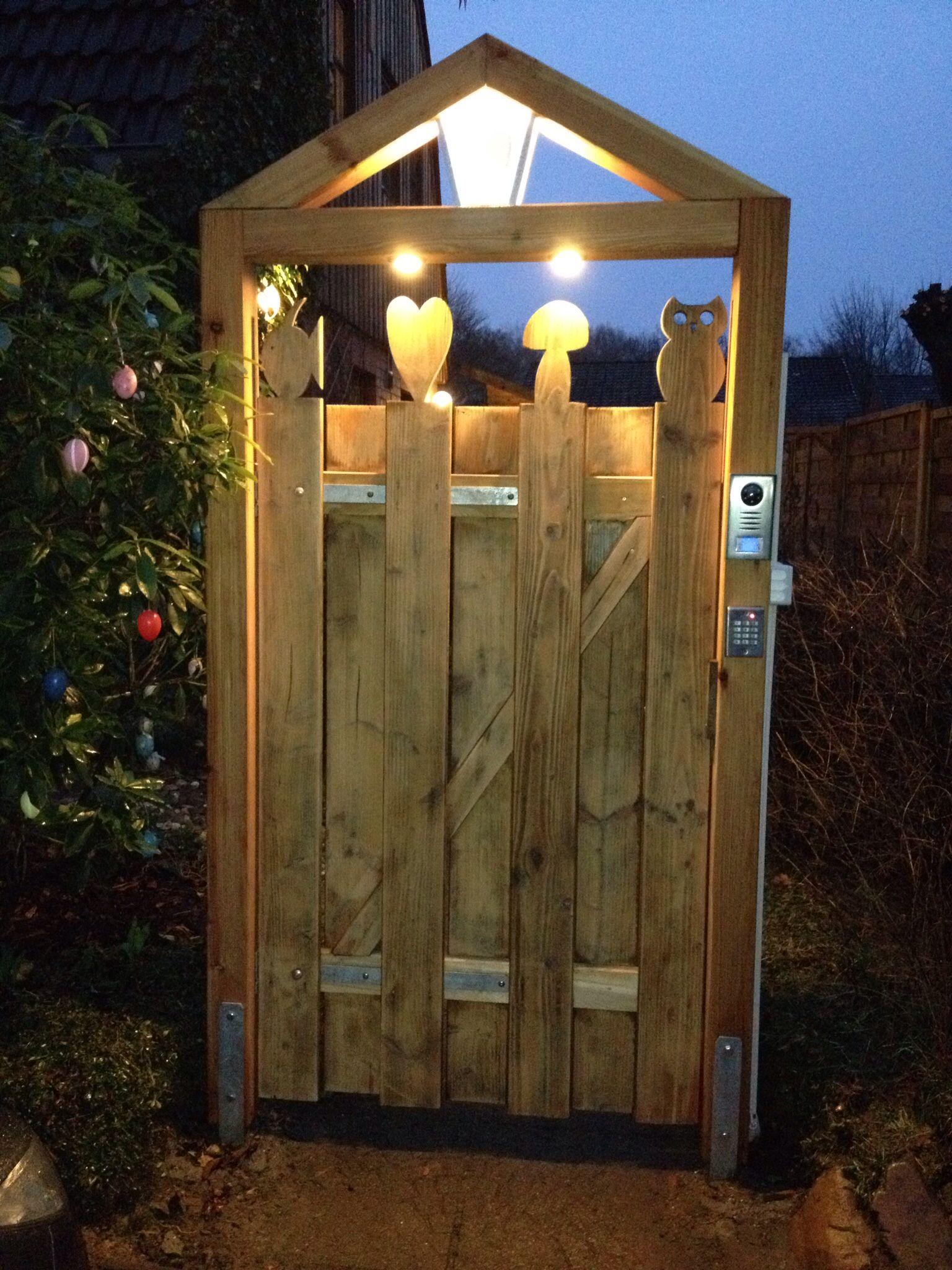 Gartentor Mit Beleuchtung Beleuchtung Garten Gartentor Garten