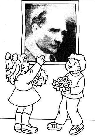 Ataturk Ataturkboyama Boyama 10kasimboyama Boyama Sayfalari Resim Ve Sanat