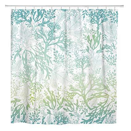 Amazon Com Artsocket Shower Curtain Green Sea Blue Freen Seaweed