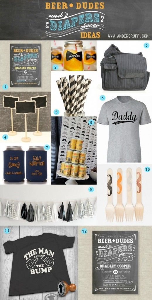Man Shower Ideas Inspiration Board Anders Ruff Custom Designs Llc Baby Shower For Men Man Shower Daddy Baby Shower
