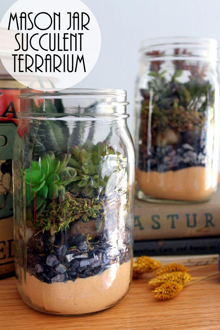 Terrarium In A Mason Jar Gift Idea Mason Jar Terrarium Mason