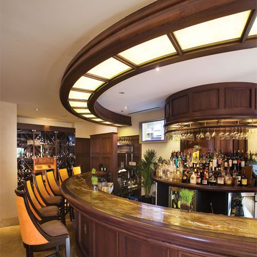 Interior Design, The Amazing Design Of The Granite Bar Tops With The Circle  Style Of The Brown Granite Countertop Of The Wooden Brown Bar Table With  Cute ...