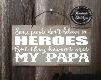 fathers day gift papa sign papa frame papa by farmhousechicsigns