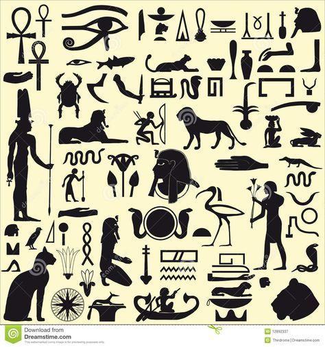 египетские символы в картинках и их значение: 9 тыс ...