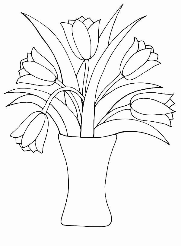 druckbare malvorlagen bilder von blumen einzigartige vase
