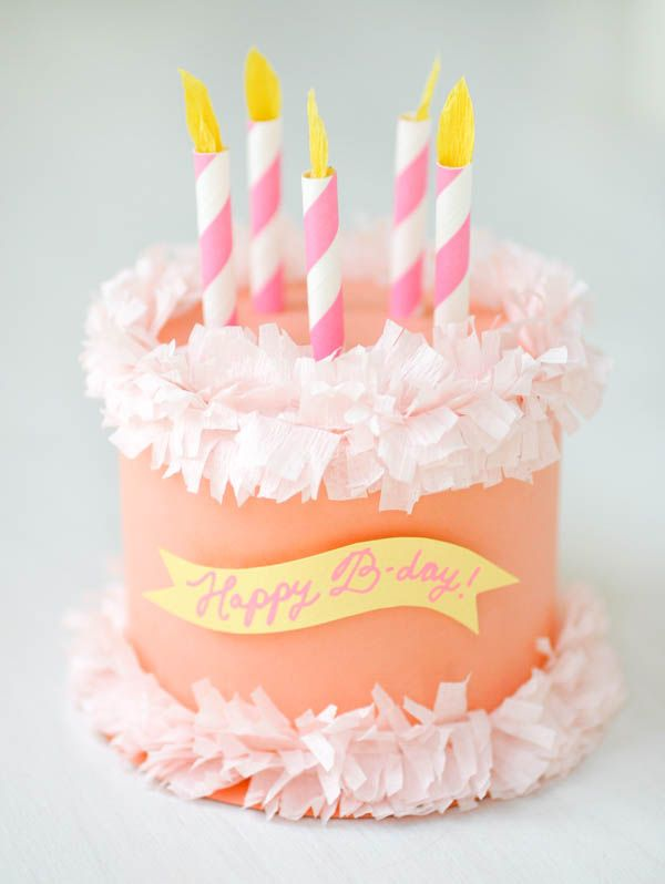 Paper Birthday Cake Box Oh Happy Day Party Pinterest