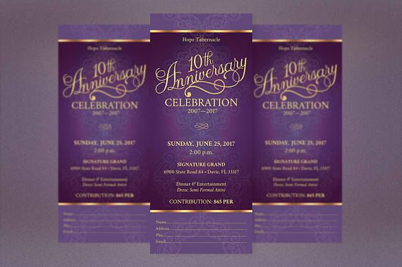 Purple Church Anniversary Publisher Ticket Template Is For Any Event That Needs An Vintage Theme