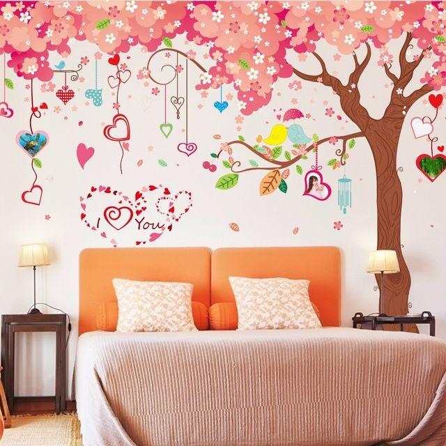 Nieuwe 2017 Grote kersenboom stickers woonkamer TV achtergrond decor ...