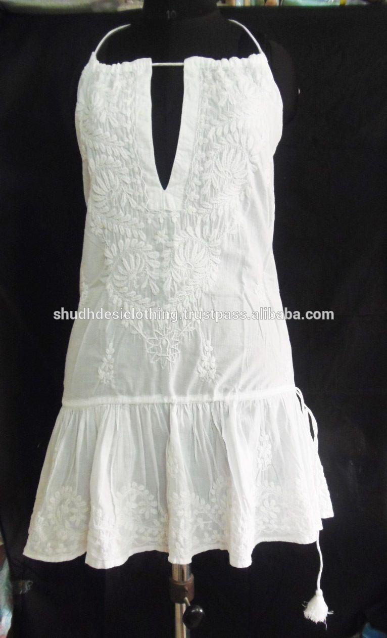 Lucknow Chikan Chikan Embroidery Designer Kurti Top Tunics Summer Tunic Australia
