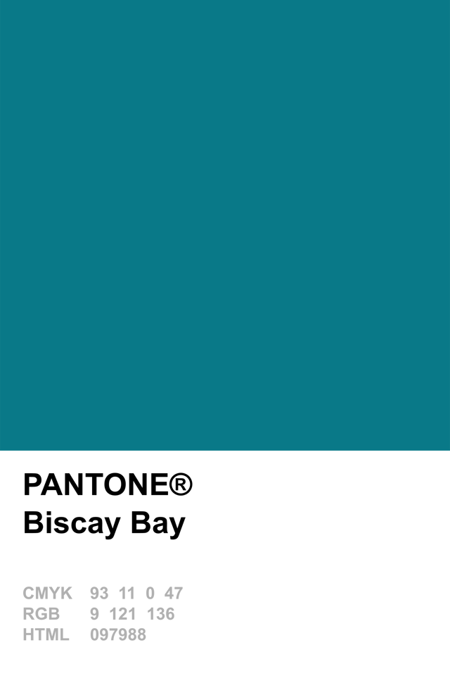 Pantone 2015 Biscay Bay  Colors  Pinterest  Pantone
