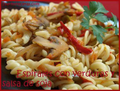 Espirales con verduras y salsa de soja receta thermomix pinterest - Platos de pasta sencillos ...