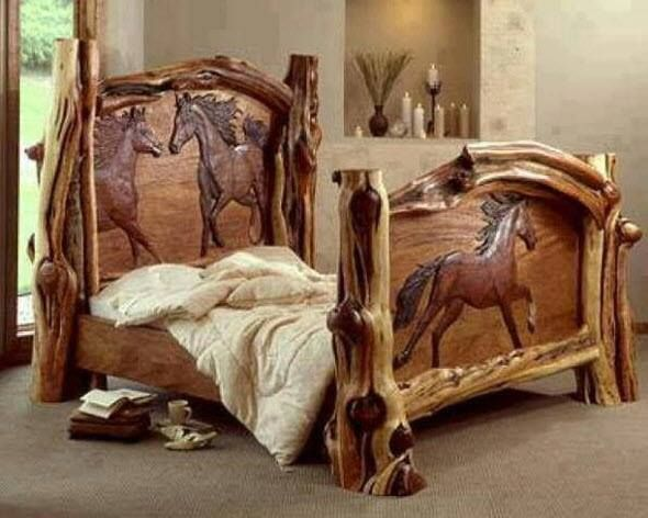 Crazy Log Beds   Woodworking Crazy