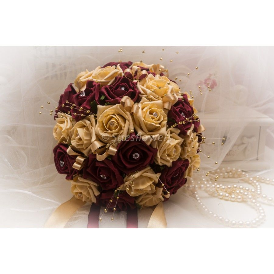 Maroon and cream wedding decor  thickboxg   Wedding bouquet  Pinterest  Weddings