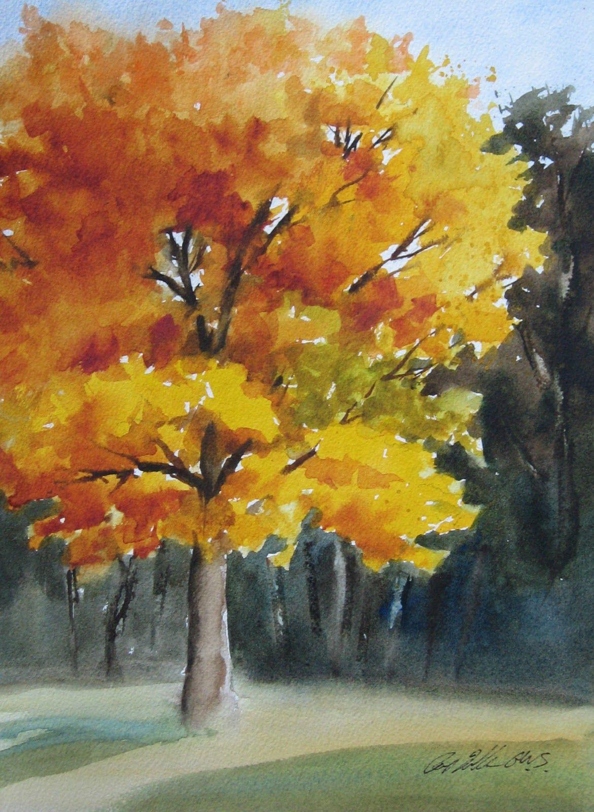 Pat Fiorello Art Elevates Life Painting Fall Trees Autumn