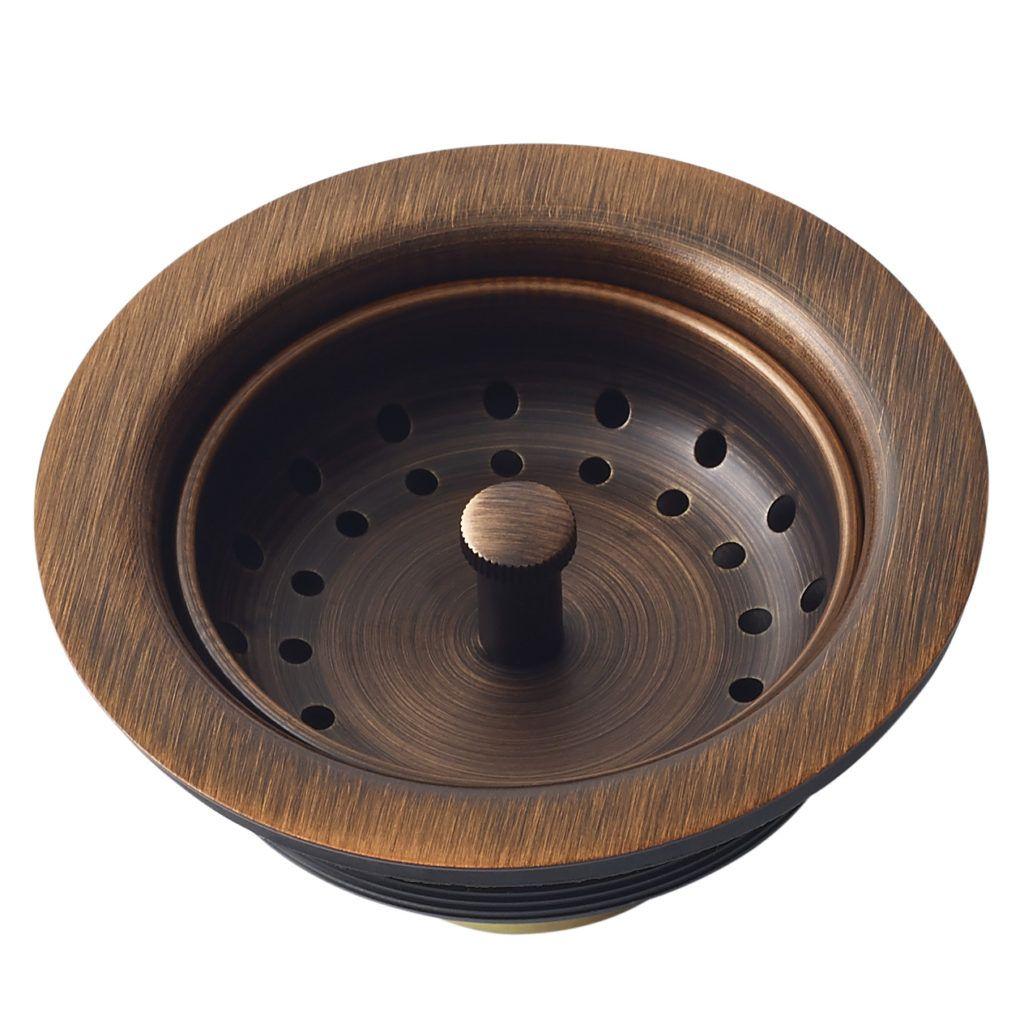 Sinkology sink basket strainer drain, copper Kitchen