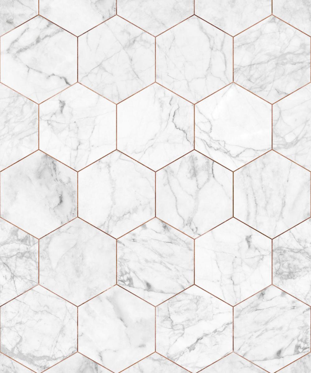 Marble Hexagon Wallpaper Hexagon Wallpaper Gold Wallpaper Bathroom Gold Wallpaper