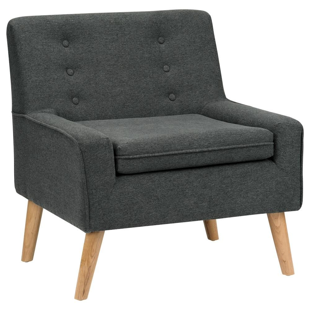 Atelier - Nordic accent - Fabric and wood lounge chair/Lounge Chairs /Seating/
