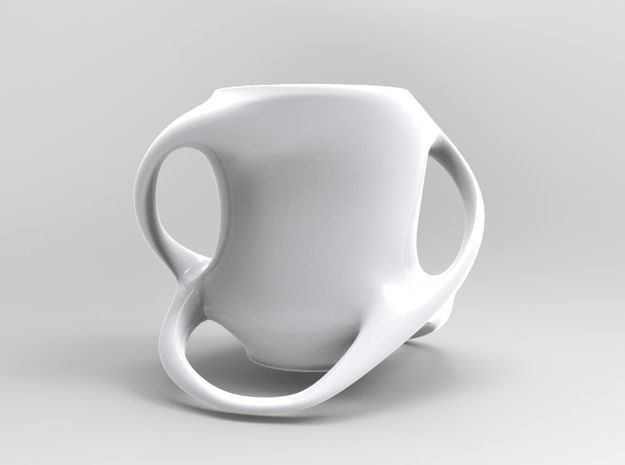 Cup with Four Handles 3d printed