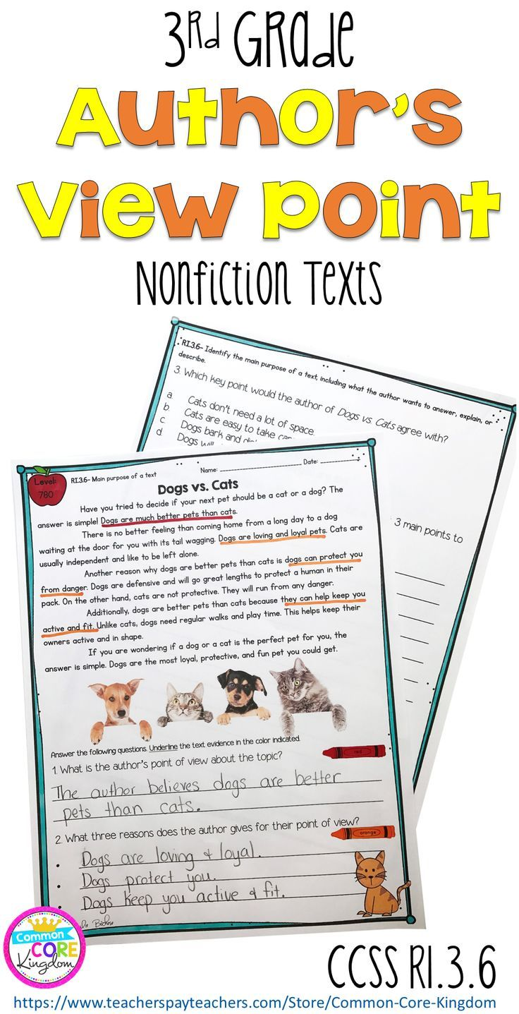 Are You Looking For A Way To Teach Your 3rd Graders About How To Distinguish Their Point Of View From T Authors Purpose Reading Intervention Elementary Reading [ 1437 x 736 Pixel ]