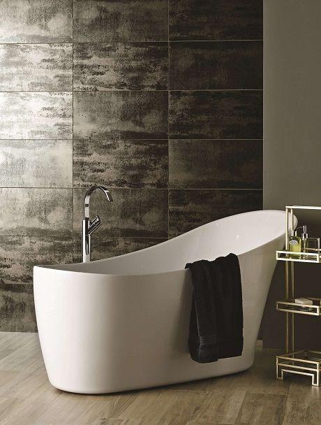 Original Style   Tileworks   Metallic Steel Tiles 60x30 CS974 6030, Floor  Forest Copse