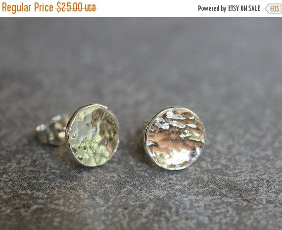 Hey, I found this really awesome Etsy listing at https://www.etsy.com/listing/169574881/christmas-sale-silver-disc-stud-earrings