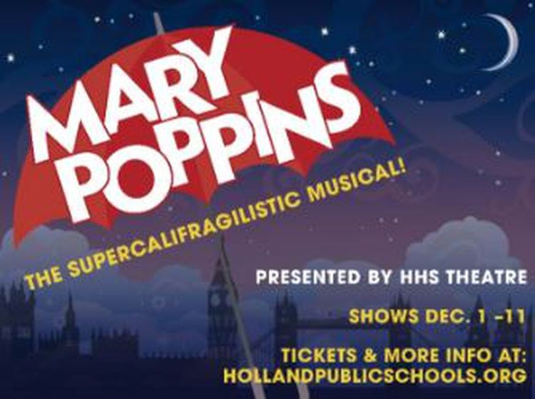 Image result for mary poppins musical poster Mary