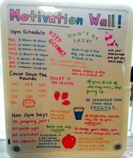 26 ideas fitness motivacin board diy track #diy #fitness