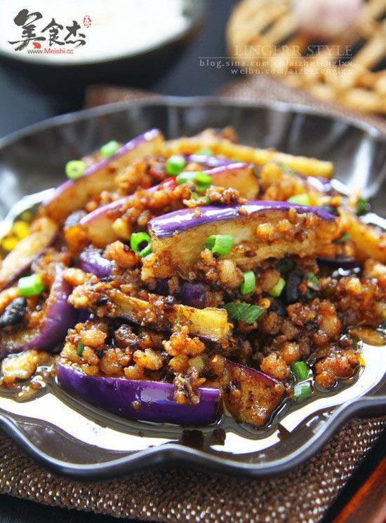 香辣肉末炒茄子ex.jpg | Eggplant with minced pork recipe. Asian recipes