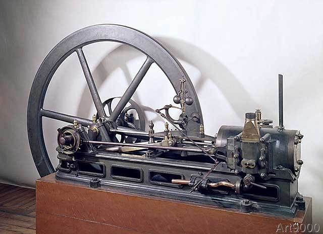 French School - Internal combustion engine designed by Etienne Lenoir (1822-1900) 1860