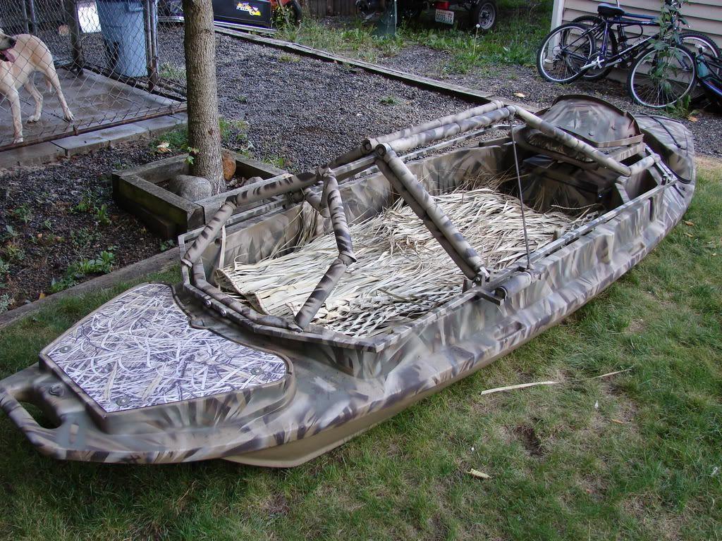 duck plans design bill boat layout ship blind hunting diy blinds canoe