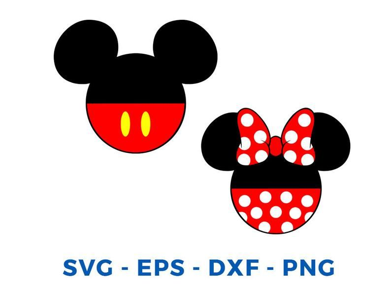 Mickey And Minnie Head Layered Svg Dxf Eps Vector Cuttable Etsy Mini Mouse Drawing Mickey Mouse Art Disney Christmas Crafts
