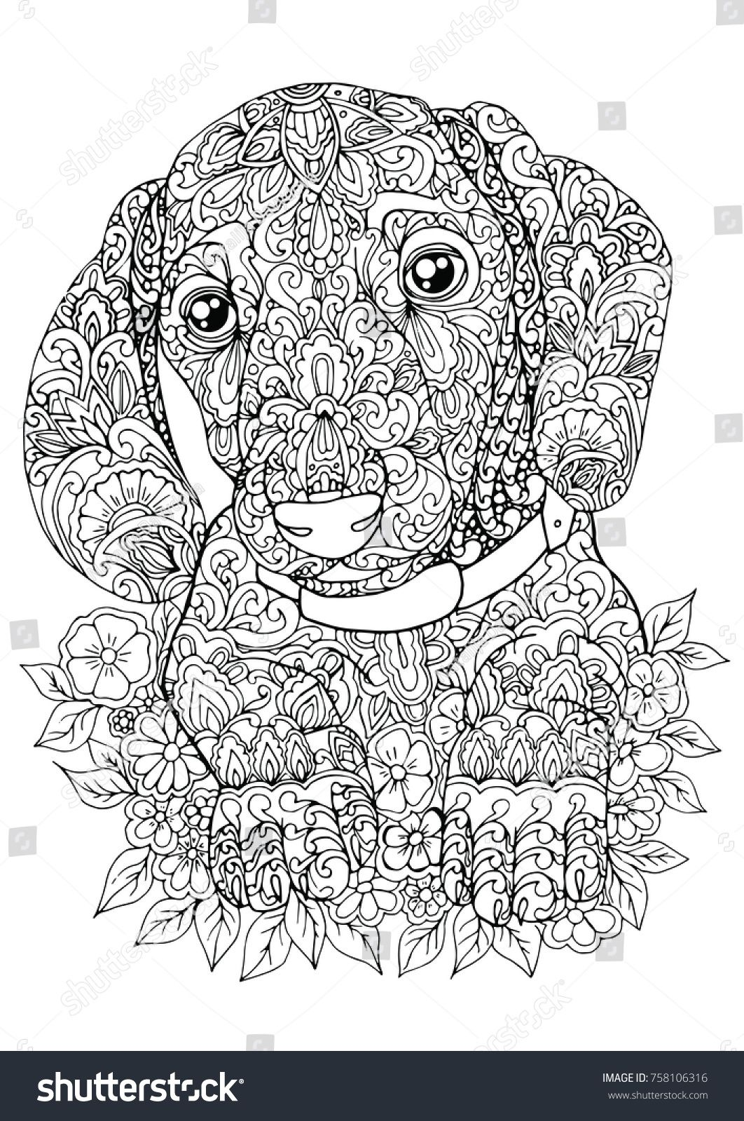 Pin By Reba Grizzle On Coloring Dog Dog Coloring Book Dog Coloring Page Cute Coloring Pages [ 1600 x 1062 Pixel ]